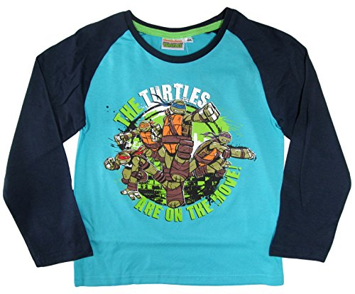 Ninja Turtles Kollektion 2015 Langarmshirt 92 98 104 110 116 122 128 134 140 146 152 Shirt Jungen Neu Blau (98 - 104) (Ninja Turtle Hose)