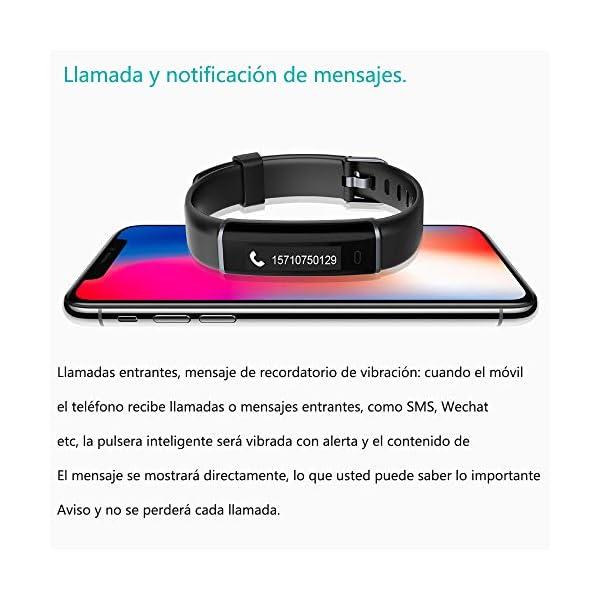 willful Pulsera Actividad, Pulsera Actividad Inteligente Impermeable IP67 Pulsera Inteligente para Deporte Smartwatch Pulsera Deporte Mujer Hombre Niños Pulsera para Android iPhone iOS Smartphone 7