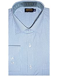 [Sponsored]Men's Formal Shirt, Blue And White Color For Office Wear :: Wise Wardrobe ::