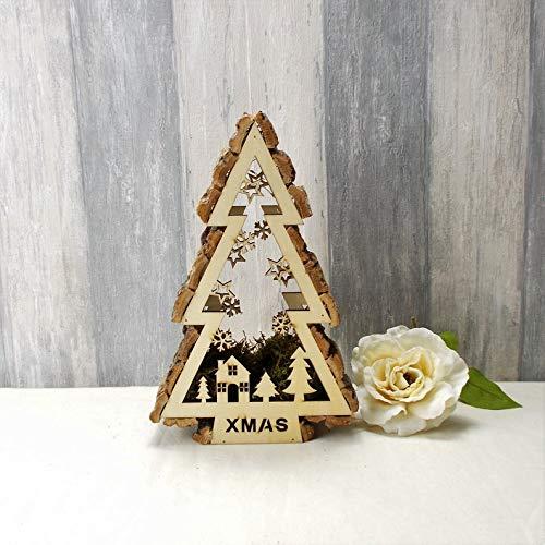 Beleuchteter Tannenbaum aus Holz, Weihnachtsdeko, Weihnachtsbaum, Adventsdeko