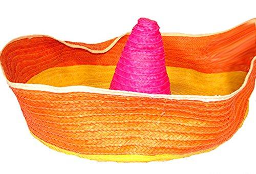ero Riesen Oversize Hut Mexikaner Kopfbedeckung 100cm groß, Mehrfarbig (Riesen Clown Hut)