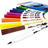Maped Color 'Peps Brush Pen–Filz Spitze Stifte–Portemonnaie von 10Farben sortiert