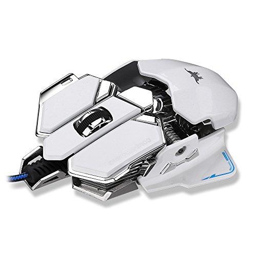 Preisvergleich Produktbild Combaterwing 4000 DPI Professionelle USB Gaming Maus,  Kabelgebunden,  mit 10 Programmtasten,  LED-Optisch,  Ergonomische,  Aluminium-Basis