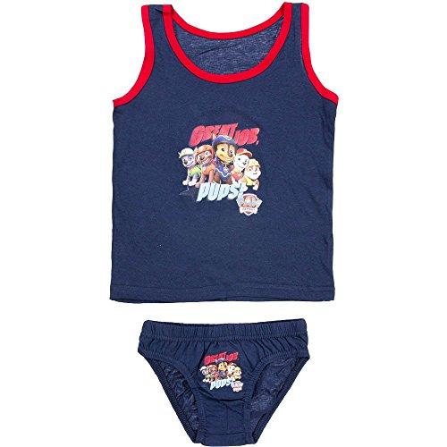 4784 Kinder Jungen Unterwäsche PAW PATROL RESCUE TEAM 2-teilig Hemd u. Unterhose (dunkelblau, 116-128)