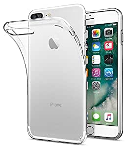 Cover iPhone 7 Plus, Cover iPhone 8 Plus, Spigen [Cover Silicone Gel] **Liquid Crystal** [Crystal Clear] Forma Morbido, Custodia iPhone 7 Plus, Custodia iPhone 8 Plus - 043CS20479