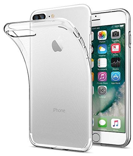 iPhone 8 PLUS / 7 PLUS Hülle, Spigen® [Liquid Crystal] iPhone 8 PLUS Hülle, Dünn [Crystal Clear] Transparent TPU Silikon Schutzhülle für iPhone 7 PLUS Case / iPhone 8 PLUS Case - Crystal Clear Beste Qualität-kopfhörer