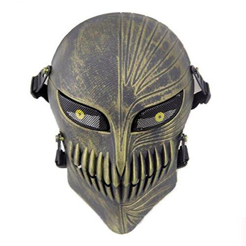 Death Face Skull Skeleton Full Face Schutzmaske für die Jagd Tactical Military Kostüm Halloween antike Bronze @ WorldShopping4U