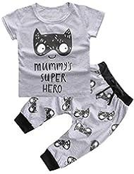 Generic 1 Set Neugeborenes Jungen Mädchen Kleidung Bedruckte T-Shirt + Hosen Kleidung