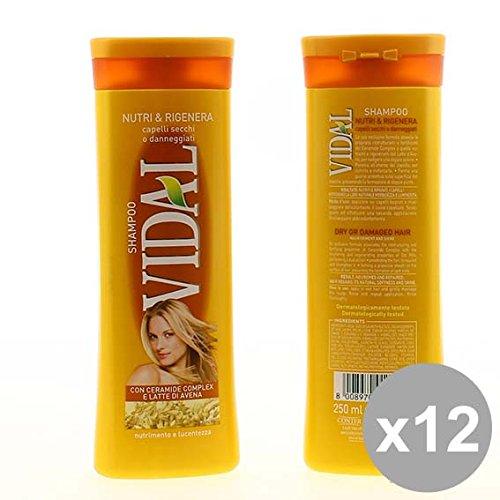 Set 12 VIDAL Shampoo 250 Nutri&Rigenera Prodotti per capelli