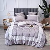 yyygg Ägypten Baumwolle Klassische Spitze Bettwäsche Set Stickerei Seidige Bettbezug Sets Bettlaken Kissenbezüge Königin King Size