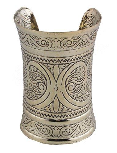 Confettery - Armreif Reif Armreif orientalischer Maya indiansiches Kostüm Schmuck Orient Pharao Harem Cleopatra glänzend, Bronze