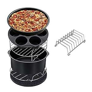 W&Z Accessori per friggitrice ad Aria per friggitrice ad Aria XL 5.3 QT - 5.8 QT, compresi tortiera per teglie, teglia per Pan per focaccine