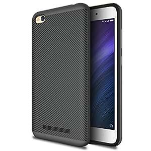 Tarkan Xiaomi Redmi 4A Fibre Back Case, Bumper Dual Layer Protective Cover [Carbon Black]