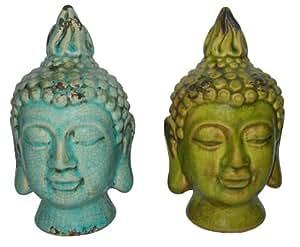 Buddha Kopf aus Keramik 21 cm
