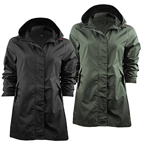 Ladies Brave Soul Raver Lightweight Raincoat Hooded Foldaway Mac In A Bag