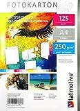 TATMOTIVE F01M125 Fotokarton Fotopapier 250g matt weiß / Laserdrucker / DIN A4 / Beidseitig bedruckbar / 125 Blatt