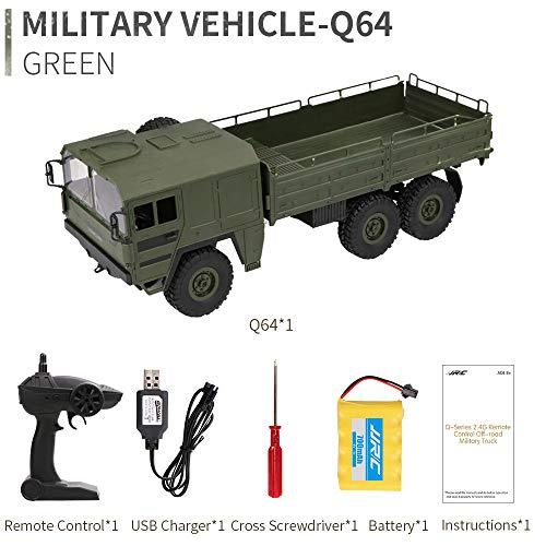 Bescita JJRC Q64 RC 2,4G Fernbedienung Truck Armee 1:16 4WD Verfolgt Räder Crawler Kettenrad Off-Road Auto RTR Spielzeug NEUZ (Armeegrün Q64)