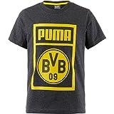 Puma BVB Shoe Día té Jr–Camiseta, infantil, 754058, Cyber Yellow, 110