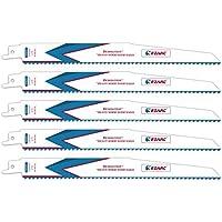 EZARC Hojas de sierra sable R936DV para Demolition Madera pesada 225mm 6TPI (pack de 5)