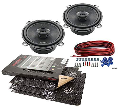 Mazda Demio (02-06) Hertz Lautsprecher Boxen 130mm Vordere Türen mit Premium Dämmung STP Black Silver Shop Pack (8 Panels je 375x265x1,8mm) (Mazda 3 Sound System)