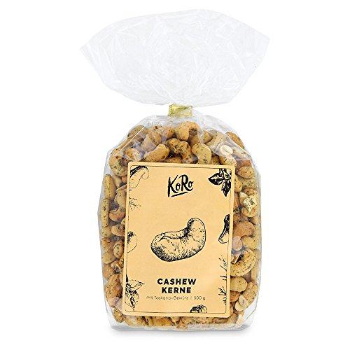 KoRo ● Cashewkerne Mit Toskana Gewürz ● 500 g ● Würziger Snack Aus Cashews ● Knabberspaß