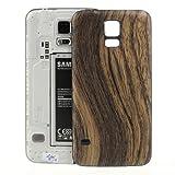 jbTec Akkudeckel zu Samsung Galaxy S5/SM-G900F/GT-I9600 - HOLZ Braun - Akkufach-Deckel Battery-/B-Cover