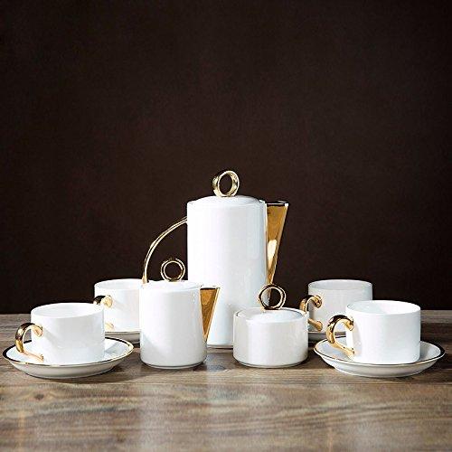AJUNR-Feine Mode Keramik Kaffee Set Guci Heimtextilien Kaffee Tasse Set Praktischer Schwarzer Tee Am Nachmittag (Jack Skellington Anzug)
