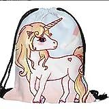 Yinew Einhorn Shopping Schutzgürtel Drawstring Umhängetasche Reisetasche Gepäck Tragetasche Tasche Für Schulreise Einhorn Tasche Kordelzug