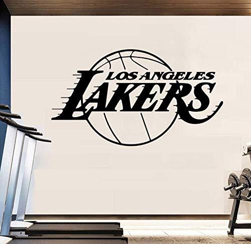 Wandtattoo Vinyl Wandaufkleber Wandaufkleber Für Wohnkultur Wohnzimmer Dekoration Jungen Schlafzimmer Wandtattoo Aufkleber Los Angeles Lakers 58X93 Cm
