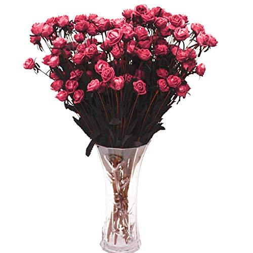 Jinzuke 15 Vorbauten künstliche gefälschte Voll Blooming Rose Blumen-Blumenstrauß Home Office Dekoration Land-Art