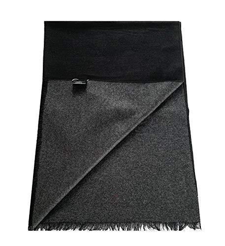PB Pietro Baldini Eleganter Winterschal double Face schwarz grau luxuriöse 100{882ca2680b54847f6ce4eb91f904dc3fa88bb29885a7d9a430b158f48be96b76} Seide, sehr edel