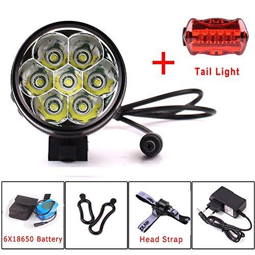 Eclairage LED Velo,9000 Lumens 7x CREE...