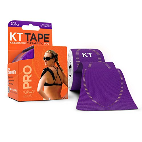 KT Tape PRO 20Streifen aus Synthetik vorgeschnittenen Kinesiologie M Epic Purple (Therapeutische Back Support Brace)
