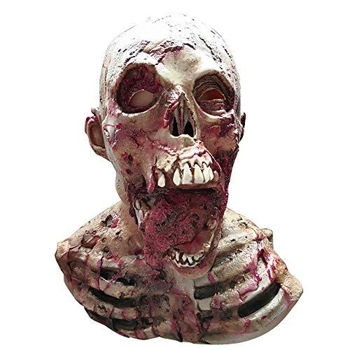 YXYXN Resident Evil Monster Mask Früher Halloween Gruselige Maske Erwachsenen Maske Zombie Maske Latex Blutig Unheimlich Extrem Ekelhaft Vollmaske Kostüm Party Cosplay - Monster Tragen Mann Kostüm