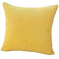 Sannysis® Cubierta Pana Algodón Cojín; Decorativo Sofá Inicio Throw Pillow Case (amarillo)