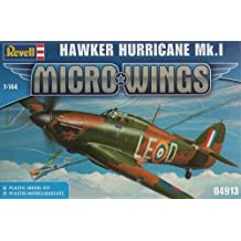 Revell 04913 - Maqueta de avión Hawker Hurricane MK.1, colección Micro Wings - escala 1/144