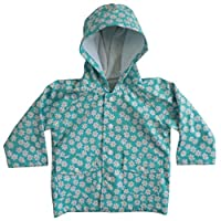 Powell Craft Big Girls Daisy Raincoat.Blue
