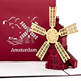 'Carte pop-up Amsterdam – Moulin à vent – Carte de Carte Amsterdam, 3D Moulin à vent, hollandkarte, Voyage Bon Holland & Amsterdam