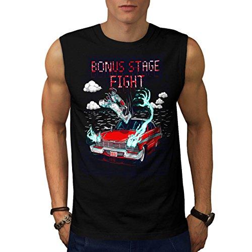 Militär-armee-scharfschütze-t-shirt Top (Bonus Stufe Kampf Gaming Karate Mann Herren S Ärmellos T-shirt | Wellcoda)