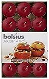 Aromatic Duft-Teelicht 'Bratapfel', Paraffin-Wachs, Rot, 30Stück
