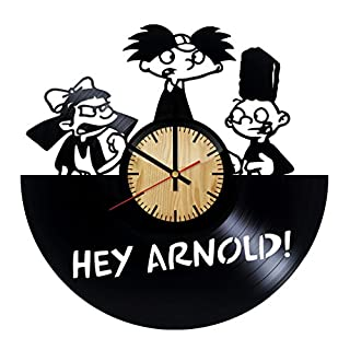 ForLovedGifts Hey Arnold Design Vinyl Wall Clock - handmade gift for any occasion - unique birthday, wedding, anniversary, Wall décor Ideas for any space