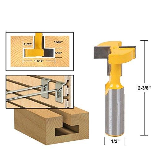 """1/2""""vástago superior calidad cartucho de ranura T-Track asignación Router Bit para carpintería cincel cortador precio al por mayor"""