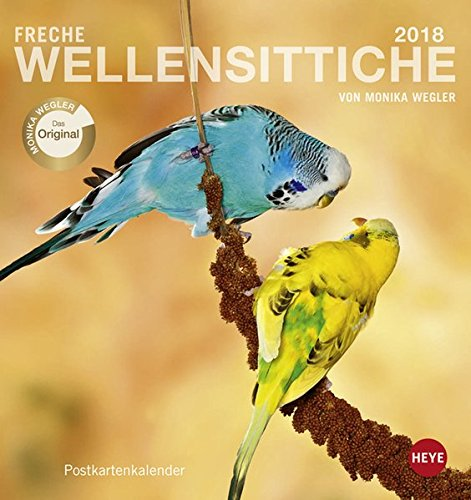 Freche Wellensittiche Postkartenkalender - Kalender 2018