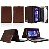 mCoque High Quality PU leather Case for Asus Transformer Book T200TA series 11.6 inch (including a separate keyboard case)  - Brown