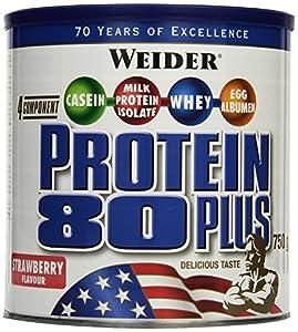 Weider 80 Plus Protein, Erdbeer (1 x 750 g)
