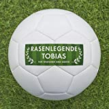 Fußball Geschenk personalisieren [Rasenlegende] - Fußball selbst gestalten und mit eigenem Text oder Namen bedrucken lassen - bedruckte Fußbälle eignen sich perfekt als personalisierte Fußball Geschenke für Klein und Groß