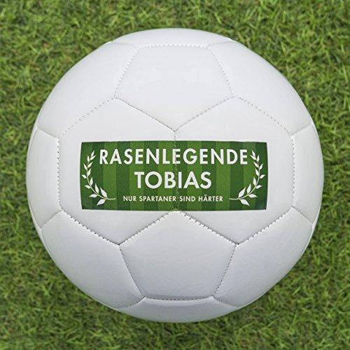 Fußball Geschenk personalisieren - Fußball selbst gestalten und mit eigenem Text, Namen oder Geburtsjahr bedrucken lassen - bedruckte Fußbälle eignen sich perfekt als personalisierte Fußball Geschenke für Klein und Groß (Personalisierte Sport-geschenke)