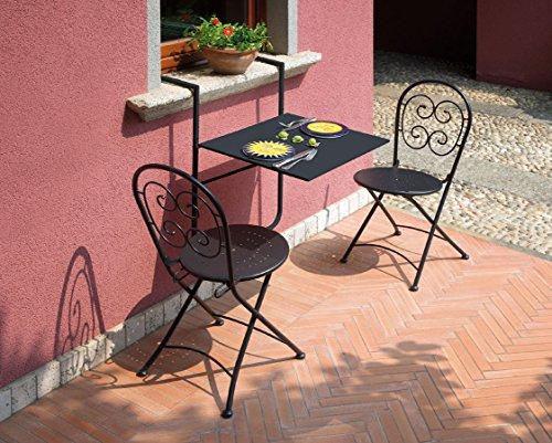 Tavolo Da Terrazzo Pieghevole : Tavolino da ringhiera tavolo balcone pieghevole mobili da giardino