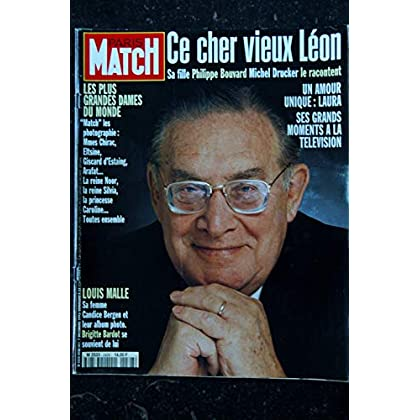 PARIS MATCH N° 2428 7 DECEMBRE 1995 COVER LEON ZITRONE HOMMAGE SES GRANDS MOMENTS A LA TELEVISION LOUIS MALLE