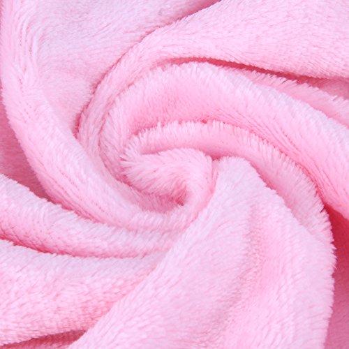 Domybest Baby-Swaddle gestickte Wickel weiche Umschlag Baby-Schlafsack (Rosa)